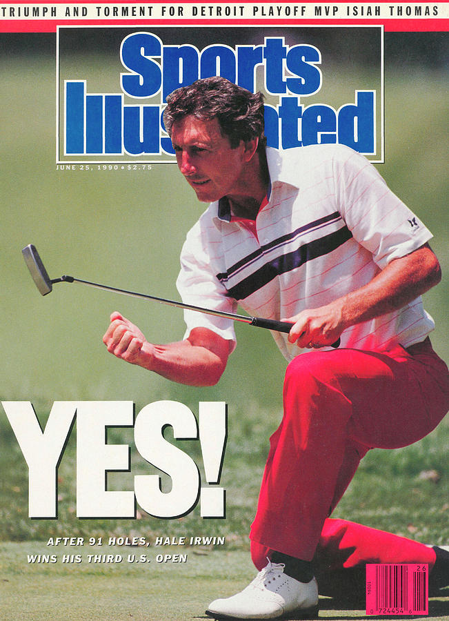 Hale Irwin, 1990 Us Open Sports Illustrated Cover Photograph by Sports Illustrated