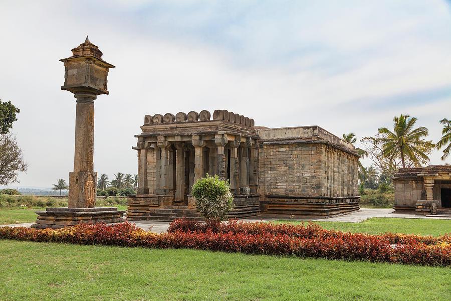 Architecture Photograph - Halebid, Parshvanatha Basadi by Maria Heyens