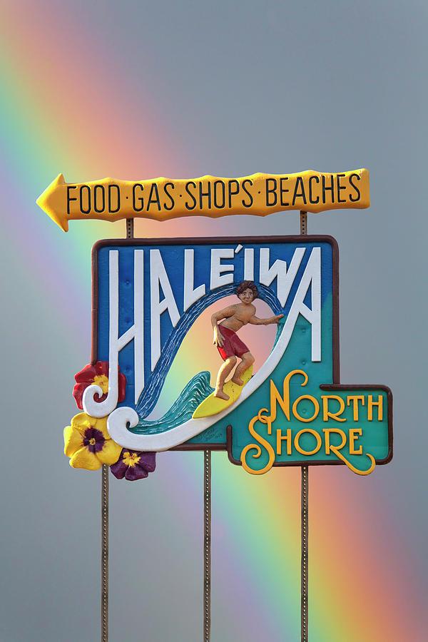 Haleiwa Surfer Sign 1 by Sean Davey