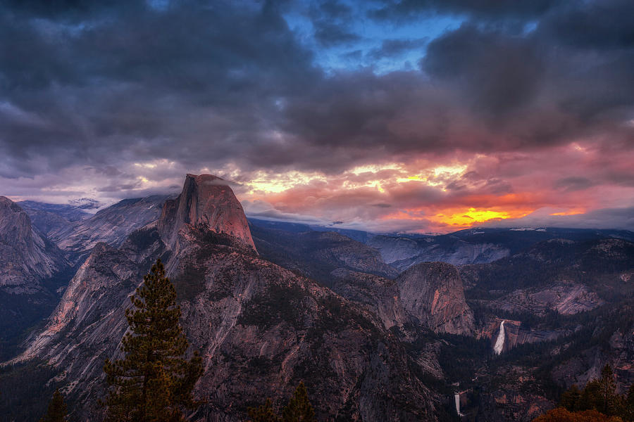 Yosemite Photograph - Half Dome at Sunset by Andrew Soundarajan