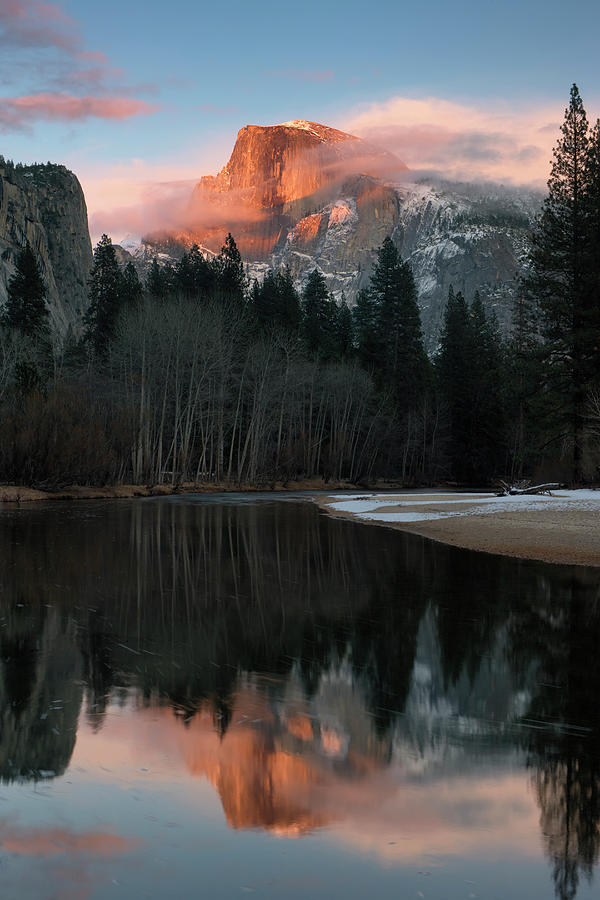 Tranquility Photograph - Half Dome Reflection by Don Smith