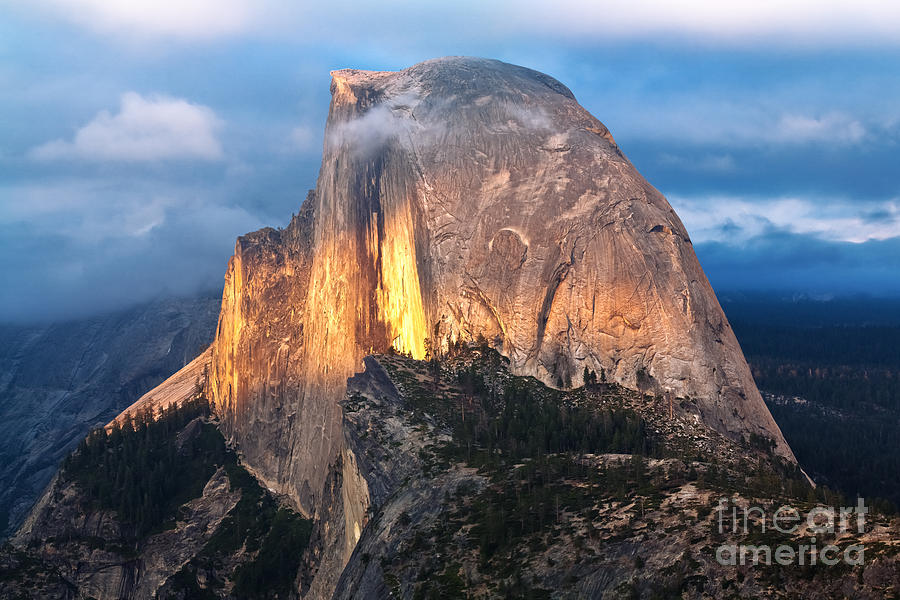 Sky Photograph - Half Dome Yosemite National Park by Topseller
