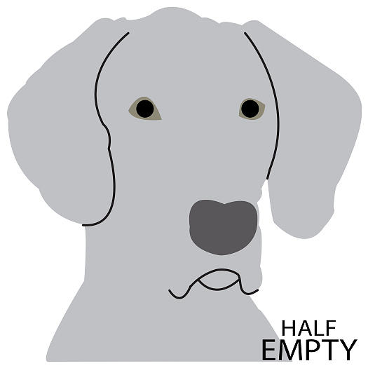 Half Empty Weimaraner by Caroline Elgin