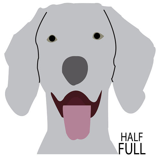 Half Full Weimaraner by Caroline Elgin