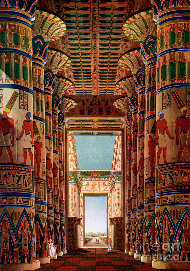 Hall Of Columns, Karnak, Egypt Drawing by Print Collector