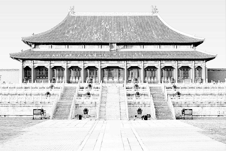 Hall Of Supreme Harmony Mixed Media - Hall of Supreme Harmony, the Forbidden City, Palace Museum, Beijing, China by Steve Clarke