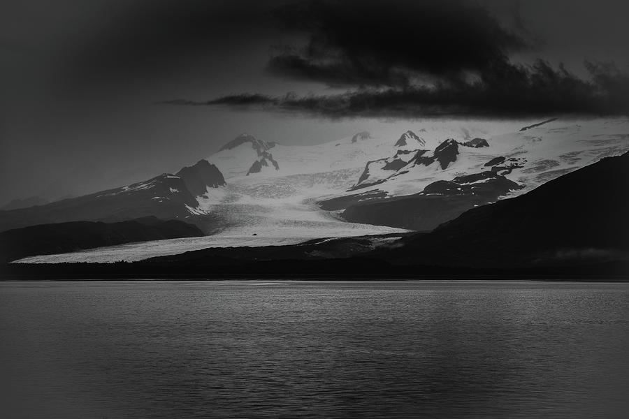 Hallo Glacier in Black and White by Mark Hunter