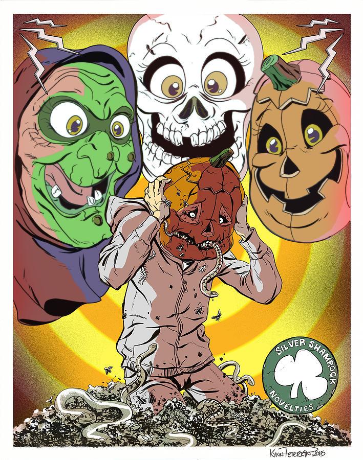 Halloween Digital Art - Halloween 3 by Kynn Peterkin