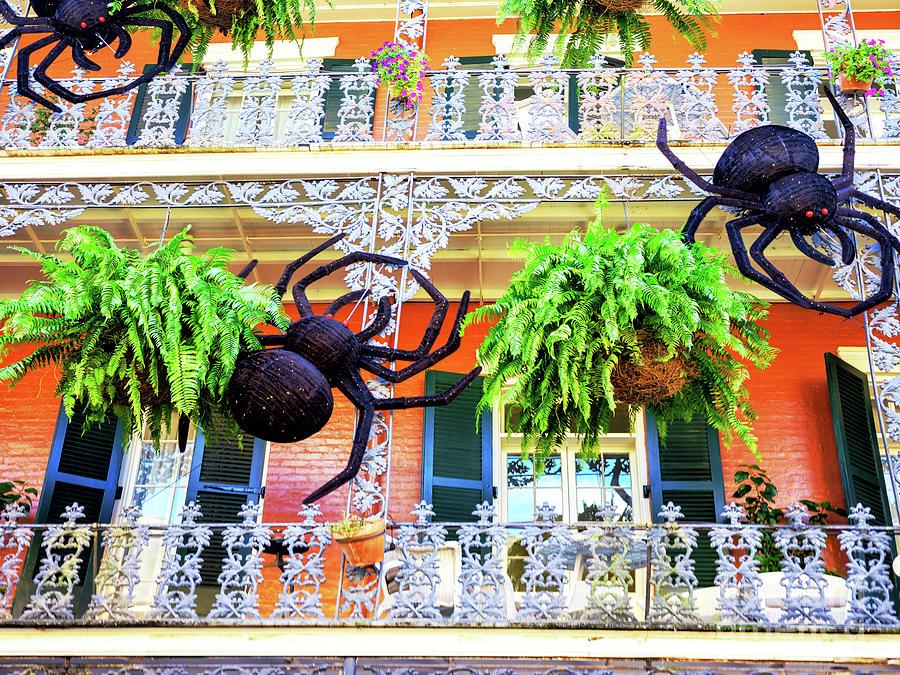 Halloween Balcony in New Orleans by John Rizzuto