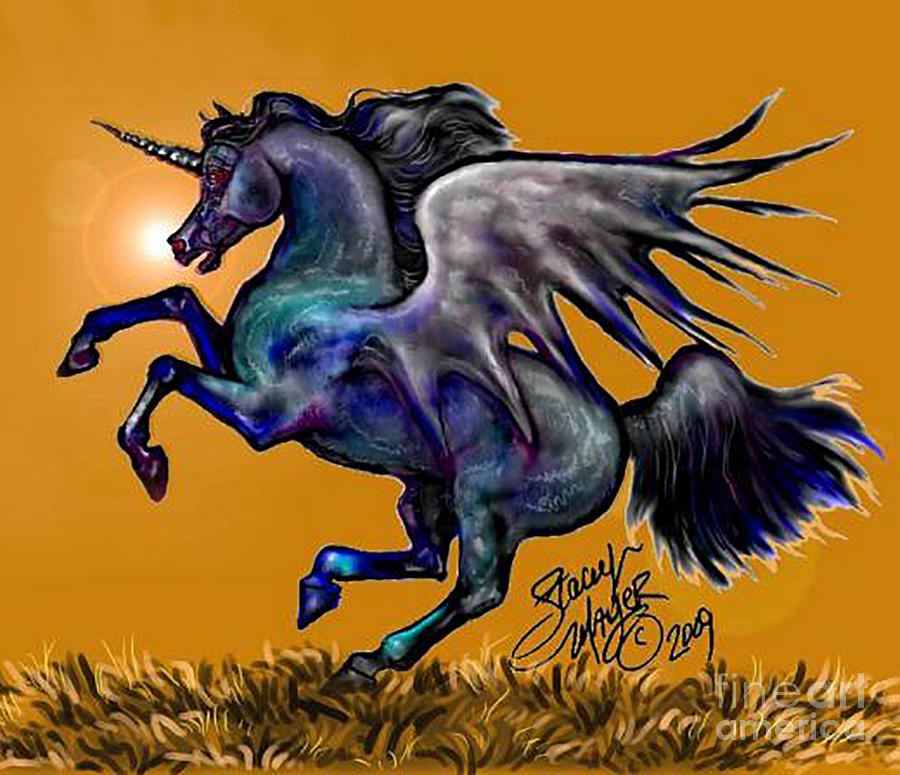 Halloween Fantasy Horse by Stacey Mayer