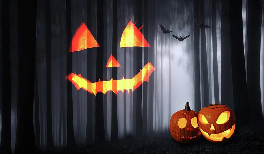 Halloween Digital Art - Halloween Forest by Mihaela Pater