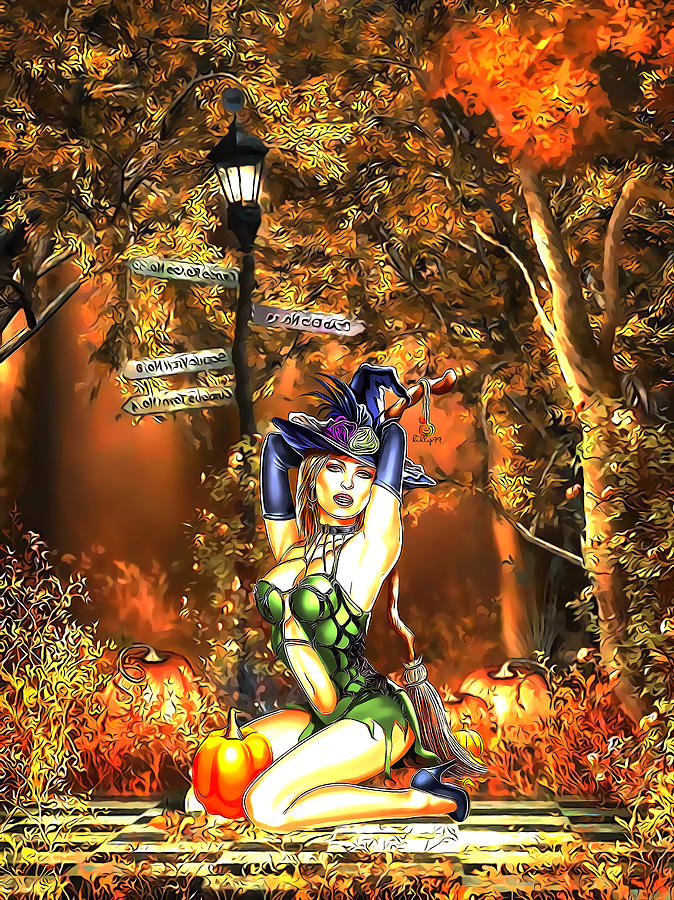 Halloween Girl Digital Art