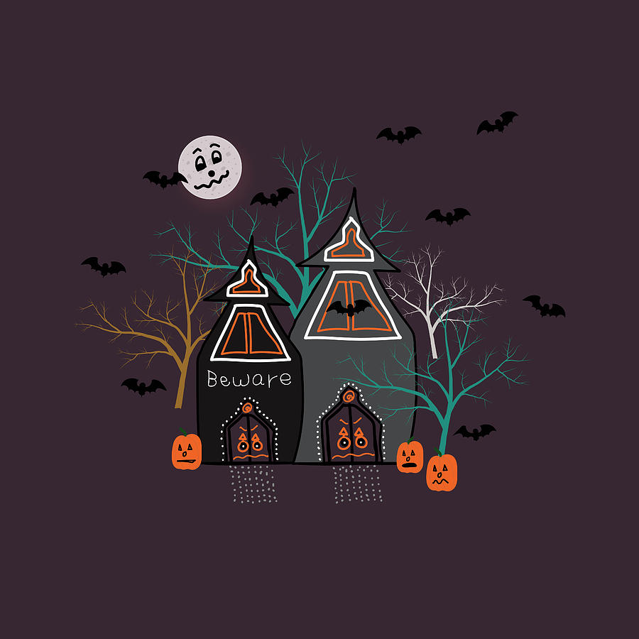 Halloween Haunted Houses by Lisa Blake