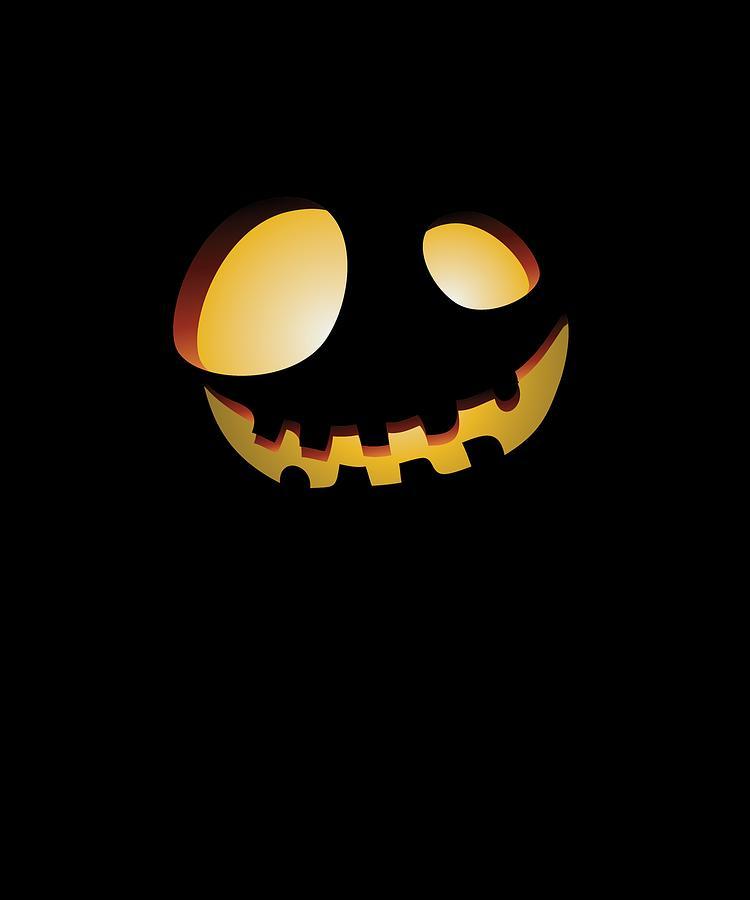 Fun Digital Art - Halloween Pumpkin Face Gift Creepy Spooky Horror by SIMple Art