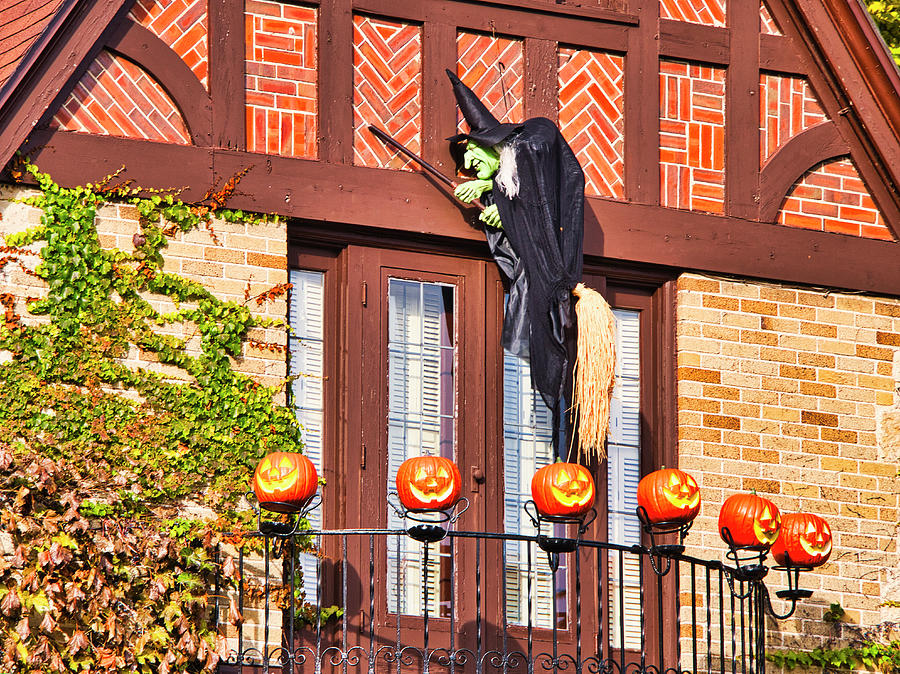Halloween Witch and Pumpkins - Madison - Wisconsin by Steven Ralser