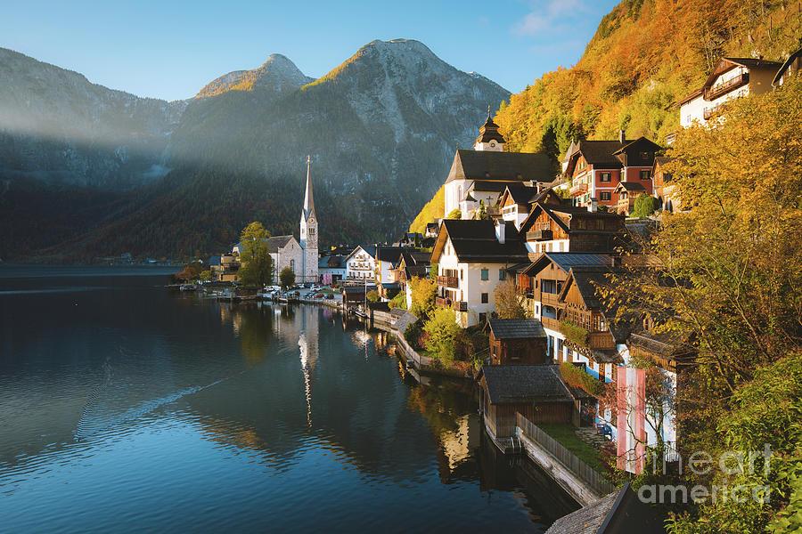 Alpine Photograph - Hallstatt First Light by JR Photography