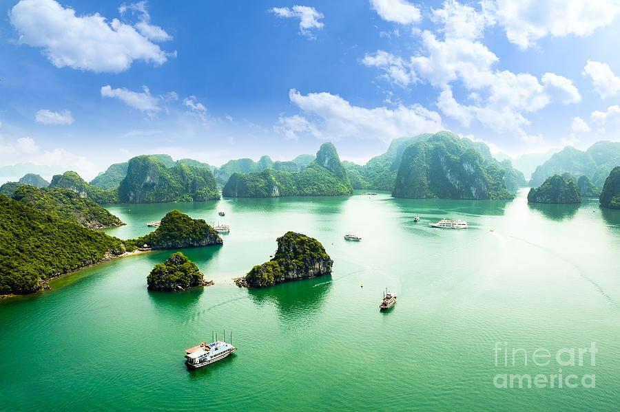 Hut Photograph - Halong Bay In Vietnam Unesco World by Junphoto