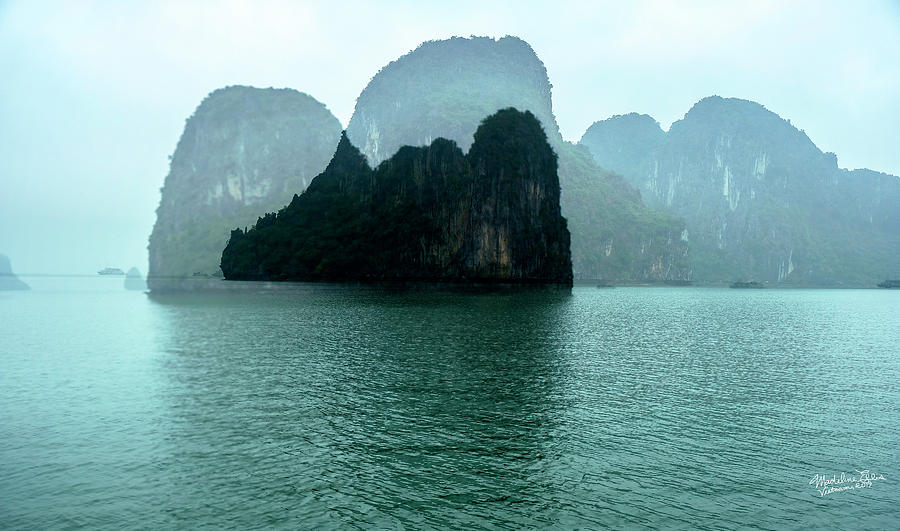 Halong Bay Photograph - Halong Bay Mountains, Vietnam by Madeline Ellis