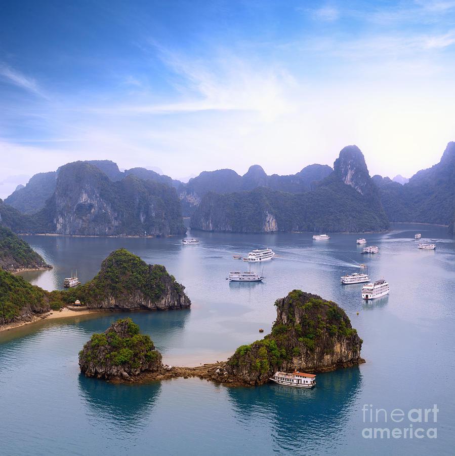 Panoramic Photograph - Halong Bay Vietnam Panorama. Beautiful by Banana Republic Images