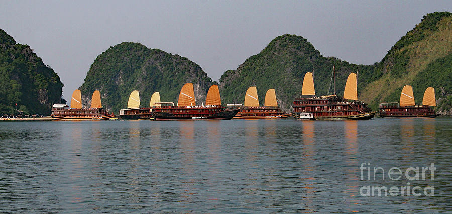 Halong Bay--Waiting for Sunrise by PJ Boylan
