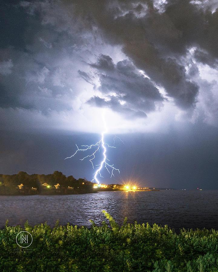 Lightning Photograph - Hamburg, NY Lightning by Dave Niedbala