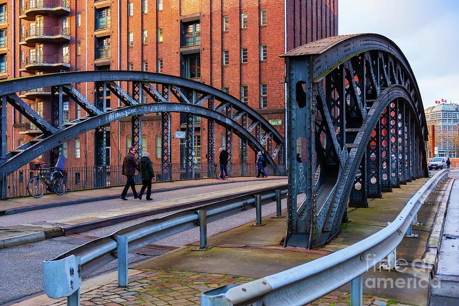 Hamburg Speicherstadt Bridges by Marina Usmanskaya
