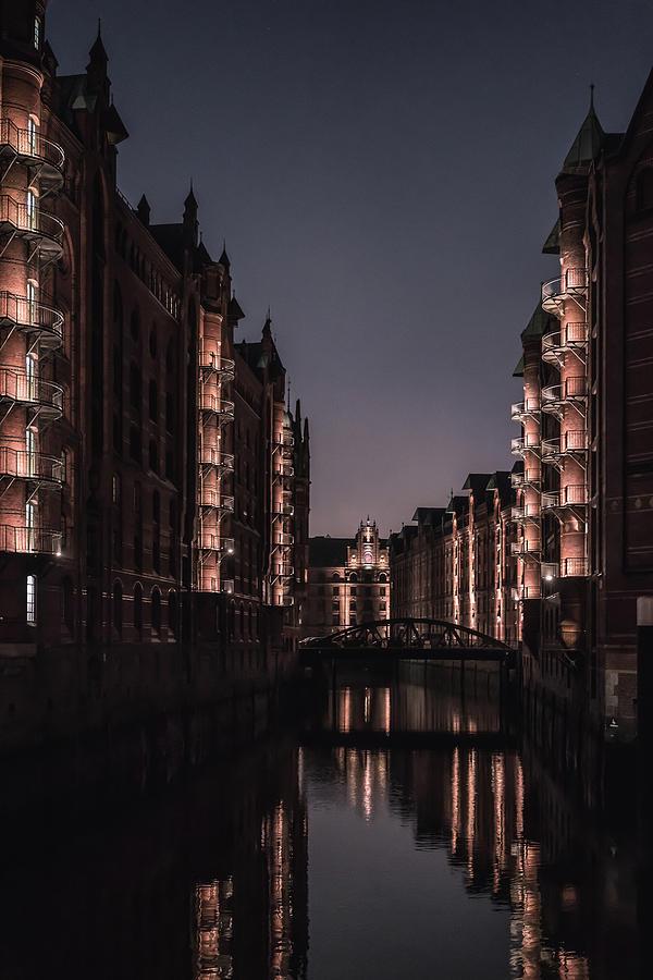 Speicherstadt Photograph - Hamburg Speicherstadt by Ute Herzog