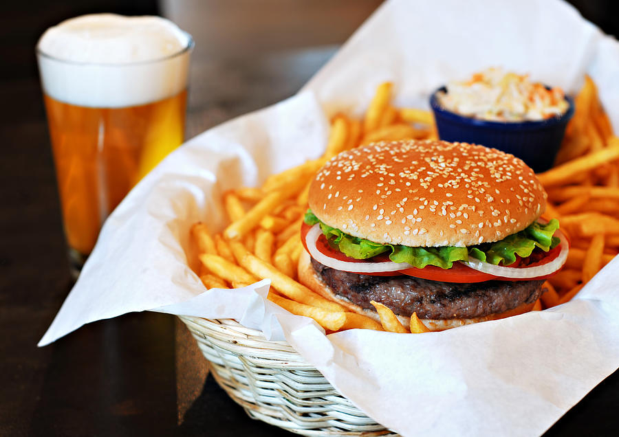 Hamburger & Beer Photograph by Muratkoc