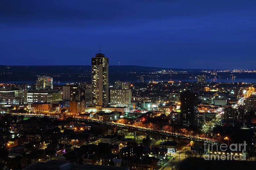 Hamilton Ontario at Night by Rachel Cohen