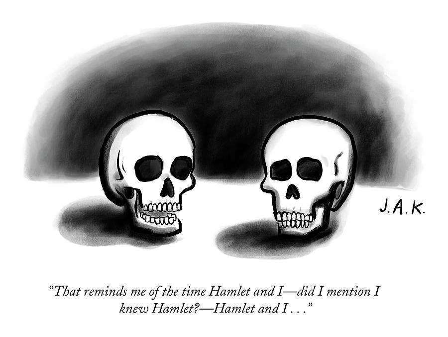 Hamlet Drawing by Jason Adam Katzenstein