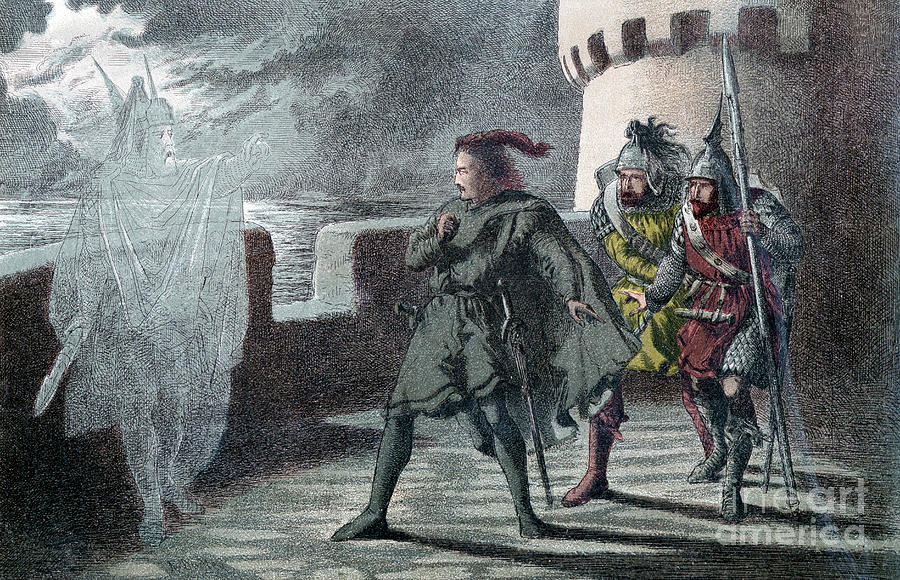 Hamlet Seeing His Fathers Ghost Drawing by Print Collector