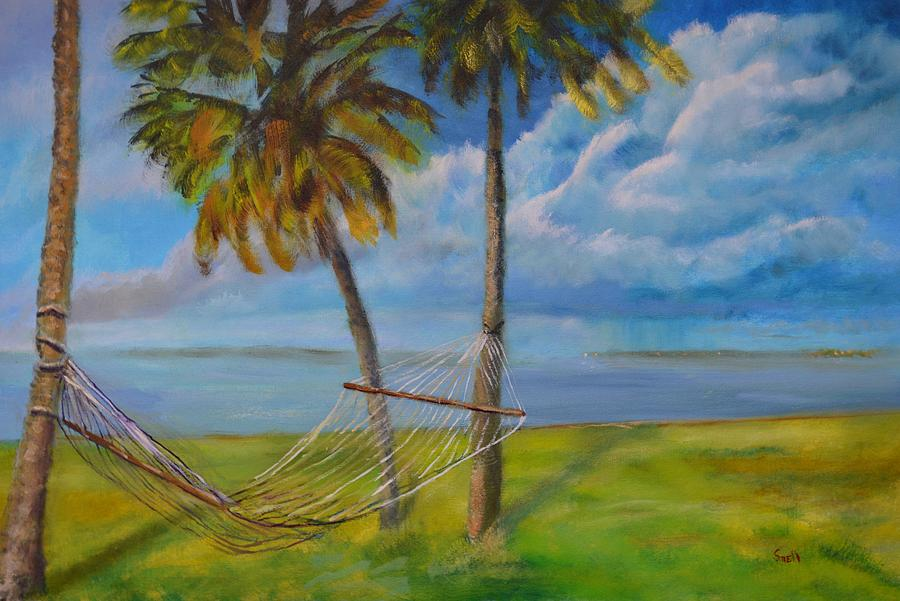 Landscape Painting - Hammock by Roger Snell