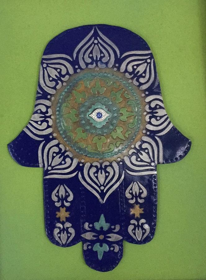 Hamsa in blue by Hila Abada