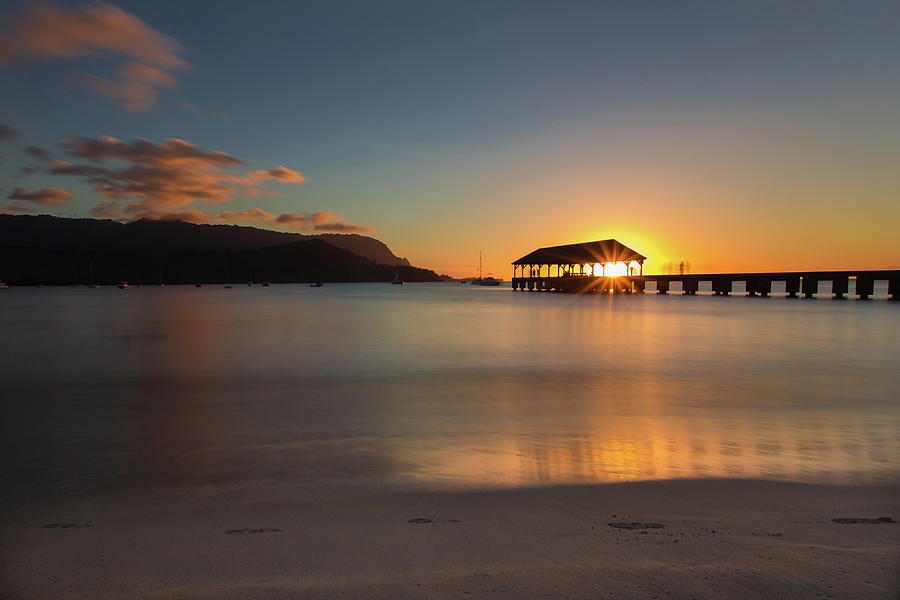 Hanalei Bay Sunset 1 by John and Nicolle Hearne