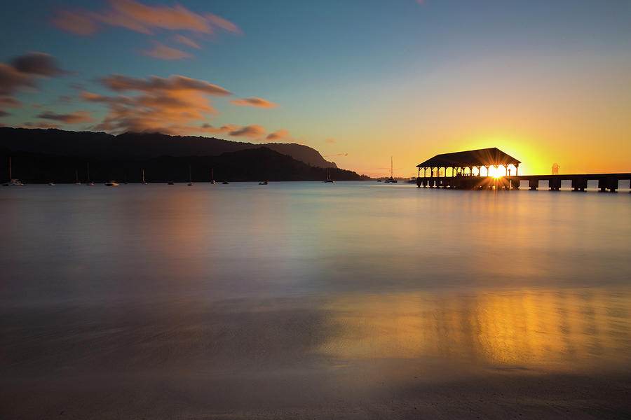 Hanalei Bay Sunset 2 by John and Nicolle Hearne