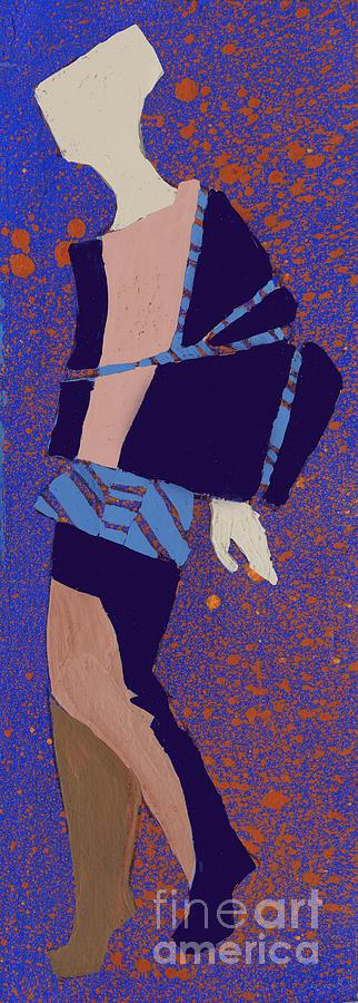 Dress Digital Art - Hand Drawn Fashionable Artistic by Alina Shakhovets