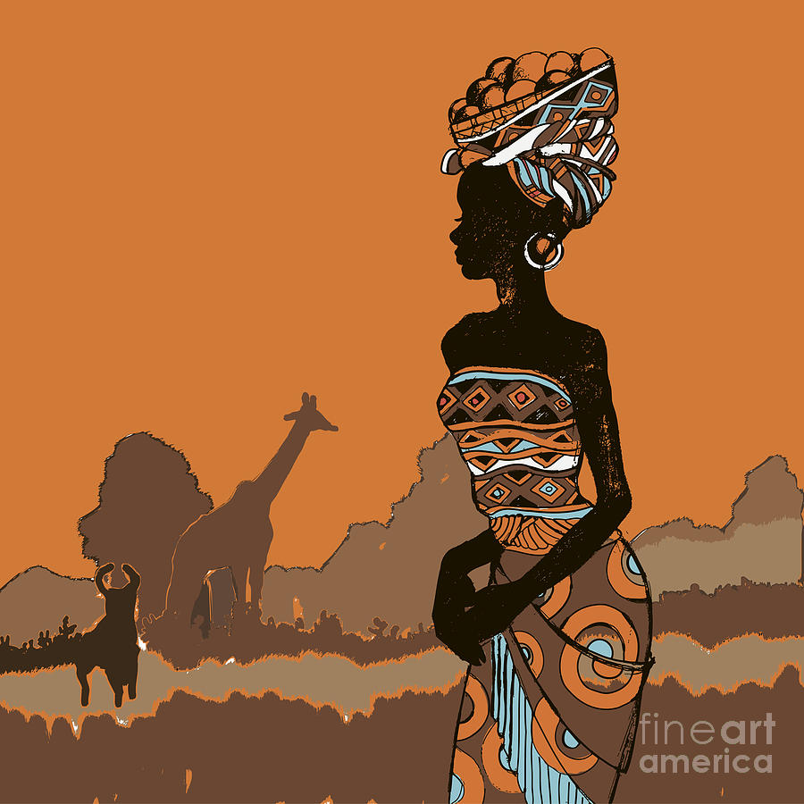 Dress Digital Art - Hand Drawn Illustration  Beautiful by Ivanchina Anna