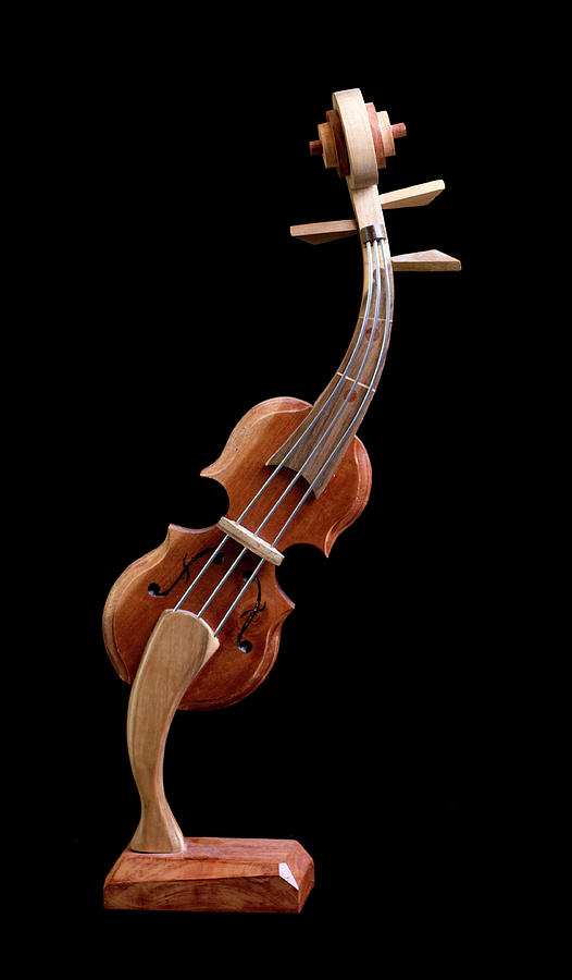Hand Made Souvenir Violin - Cuba by Rick Veldman