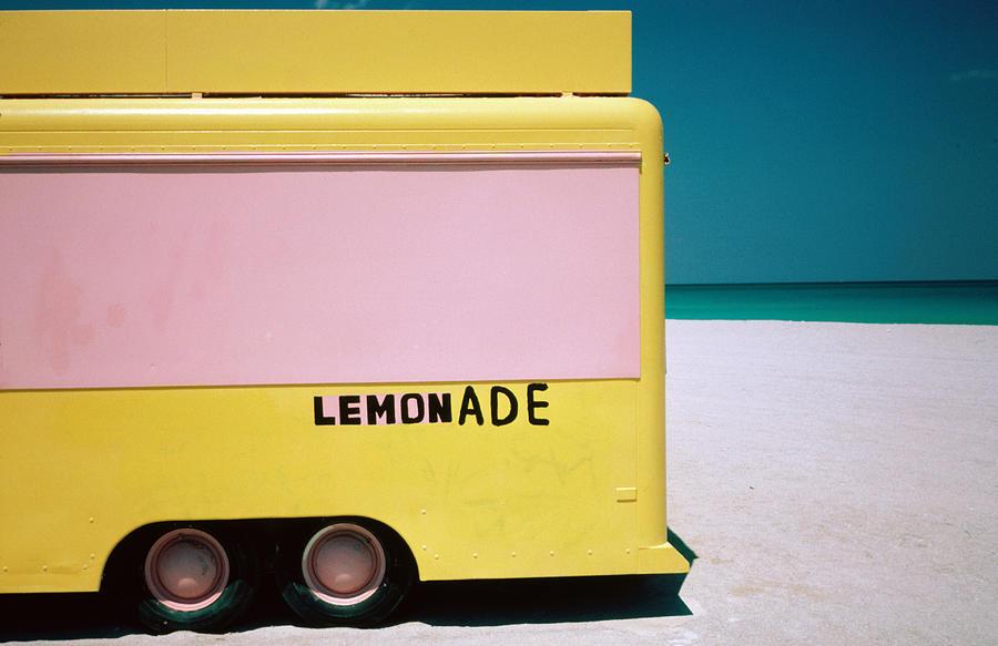 Hand Painted Lemonade Truck On Beach Photograph by Jeffrey Becom