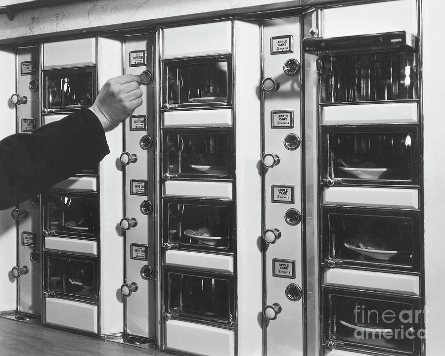 Hand Placing Coin Into Automat Lunch Photograph by Bettmann