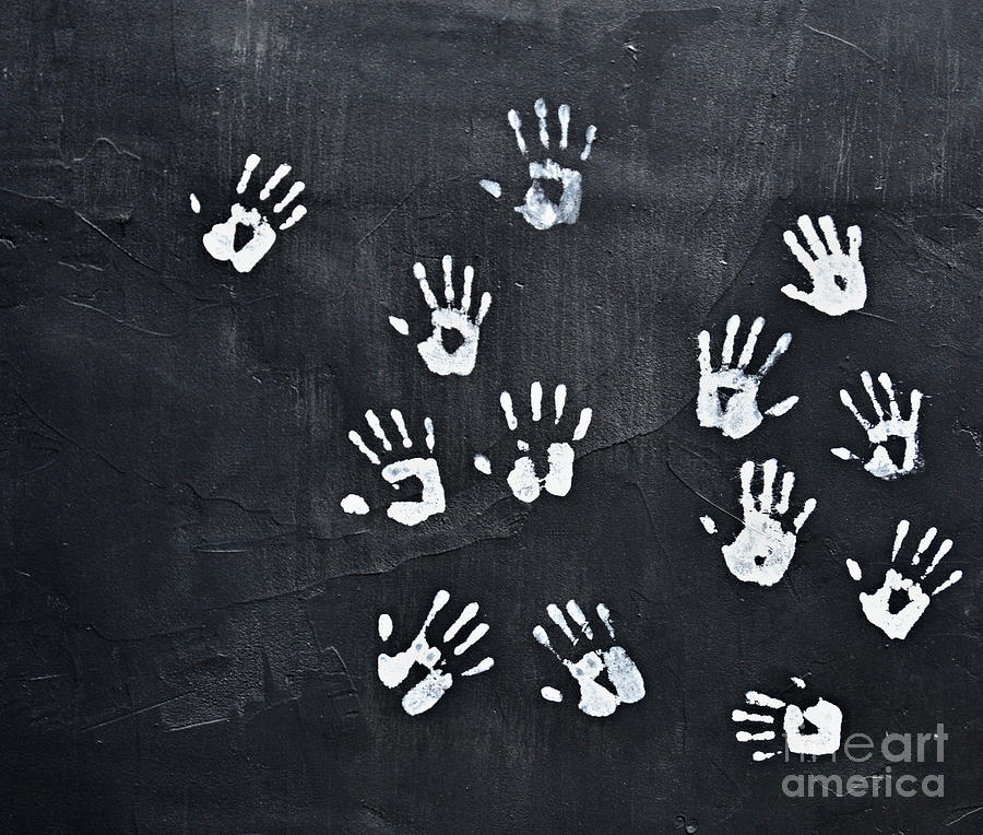 Hand prints by Steven Liveoak
