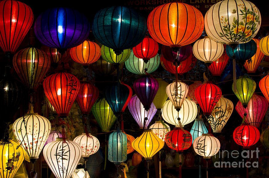 Sparkle Photograph - Handcrafted Lanterns In Ancient Town by Jimmy Tran