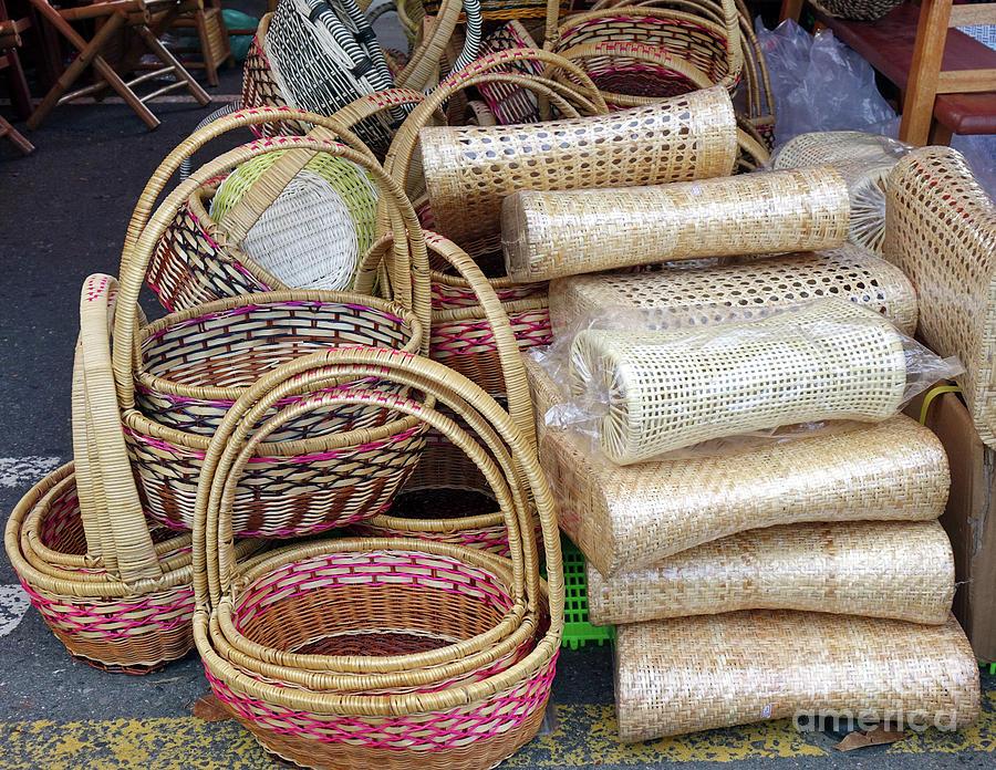 Handmade Baskets and Pillows by Yali Shi