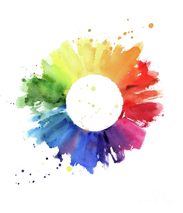 Handmade Color Wheel Digital Art by Azurhino