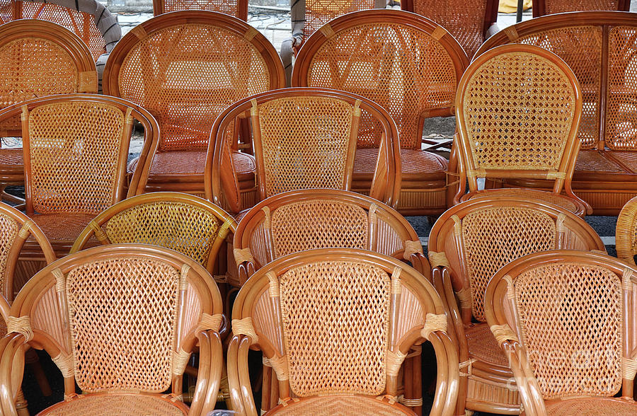 Handmade Wicker and Bamboo Chairs by Yali Shi