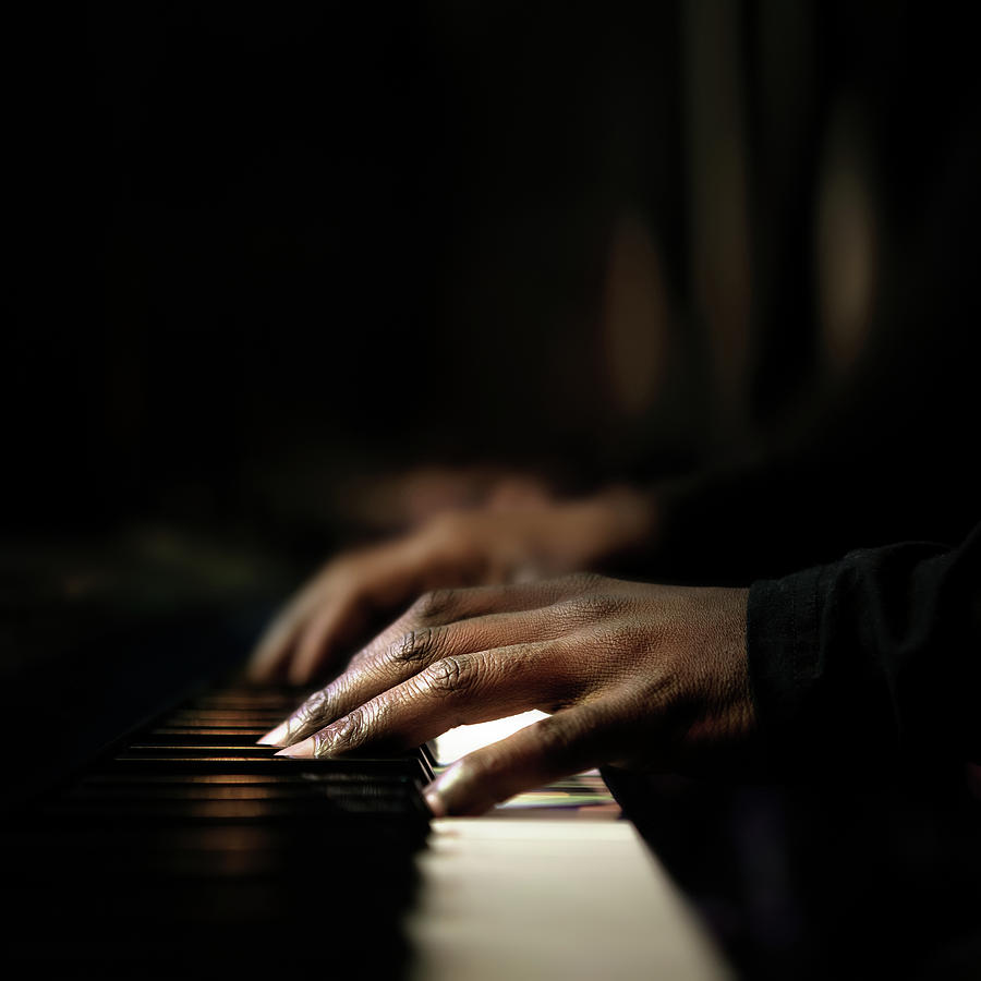 Hands Playing Piano Close-up Photograph