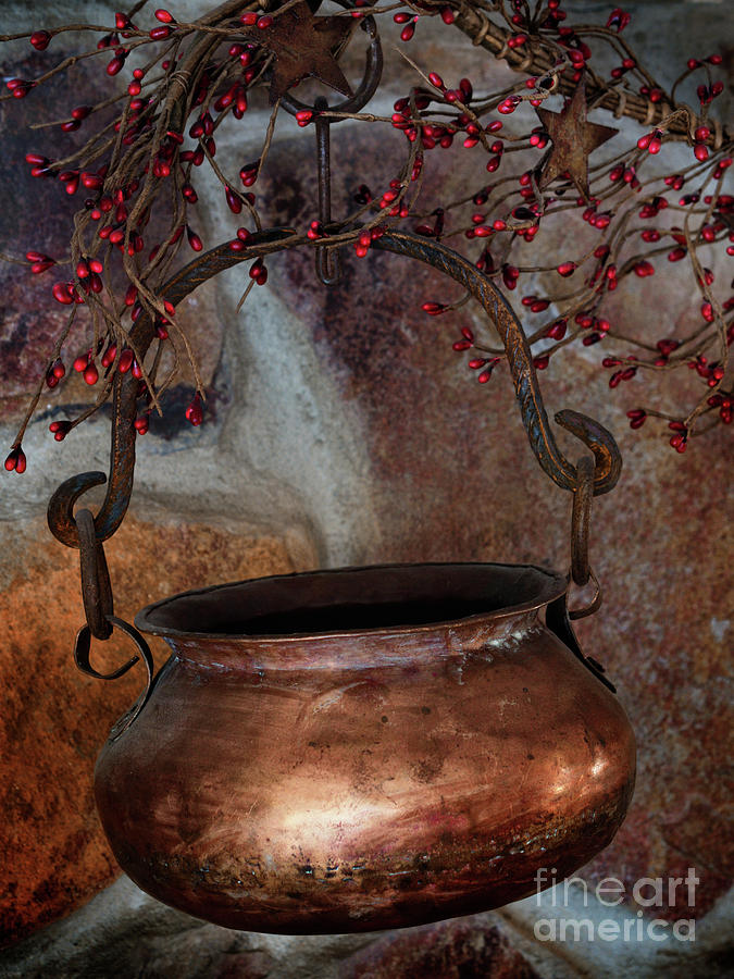 Hanging Copper Pot by Mark Miller
