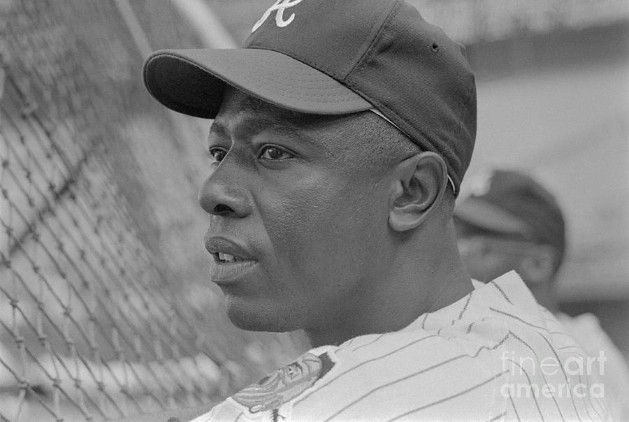 Hank Aaron Concentrating Before Game Photograph by Bettmann