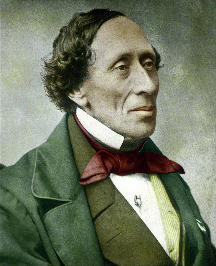 Hans Christian Andersen, 1860s Photograph by Danish School