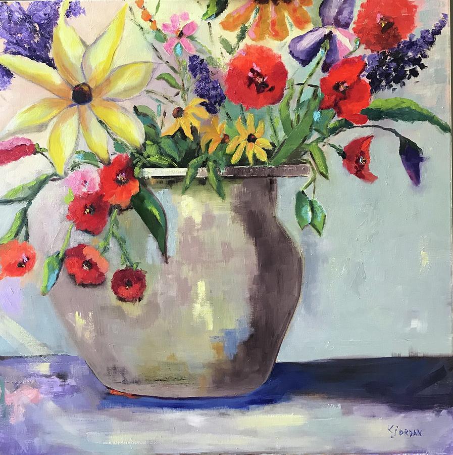 Happiness Is.... Painting by Karen Jordan